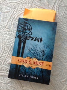 My proof copy of Oak and Mist - each sticky note marks a correction!