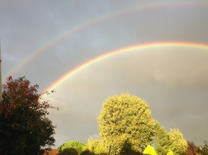 Double rainbow from my back garden...