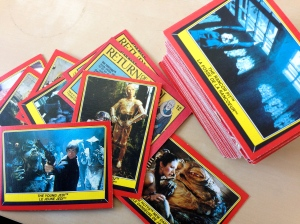 I wanted to use a flashy Star Wars image but copyright and all that. So instead, here are my fabulous bubble gum cards :-)