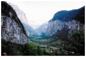 The valley seen from the lower slopes of the Jungfrau