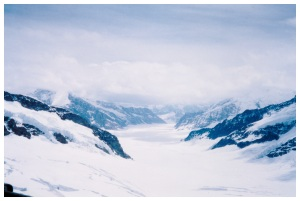 The glacier on top of the Jungfrau - the original Pass of Carahdras?