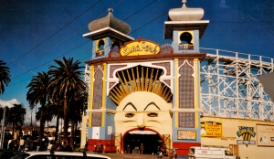 Luna Park, Melbourne. The iconic park is in St Kilda, home to the fictional Phryne Fisher