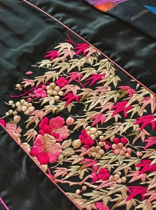 Detail from an embroidered silk caftan I found in a Sydney charity shop.