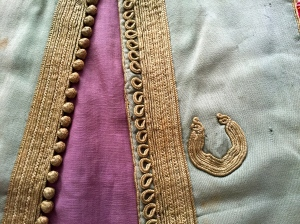 Detail of a vintage waistcoat I bought at a vintage clothing sale, many years ago.