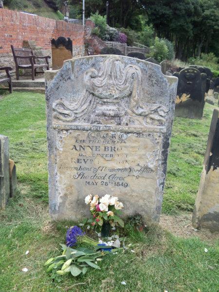 The grave of Anne Bronte