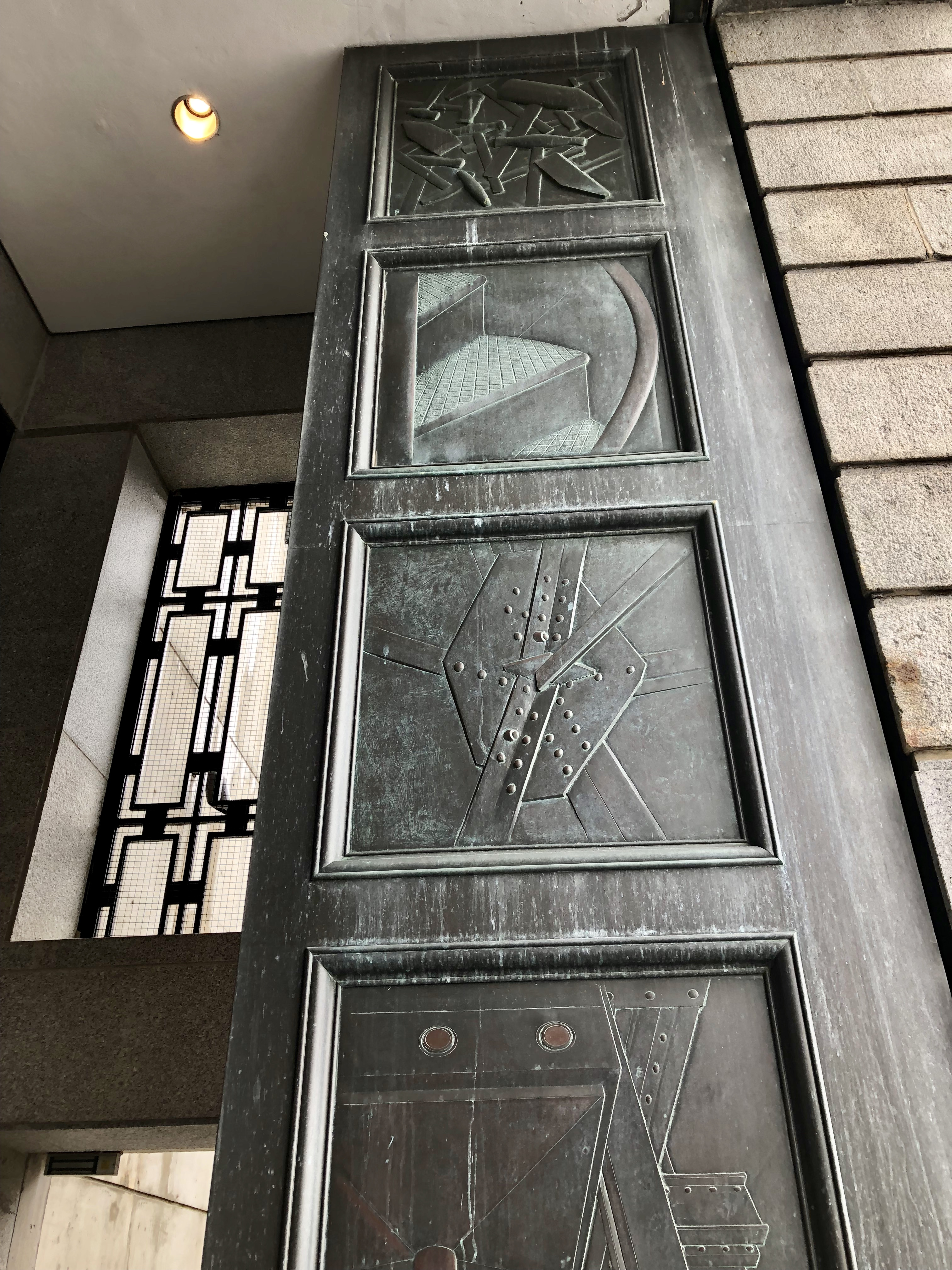 Following on from yesterday\u0027s Wander to the Statue of Liberty here is one of the pedestal doors. Each door is different with relief panels depicting ... & Thursday Doors \u2013 Statue of Liberty Pedestal | Journey To Ambeth